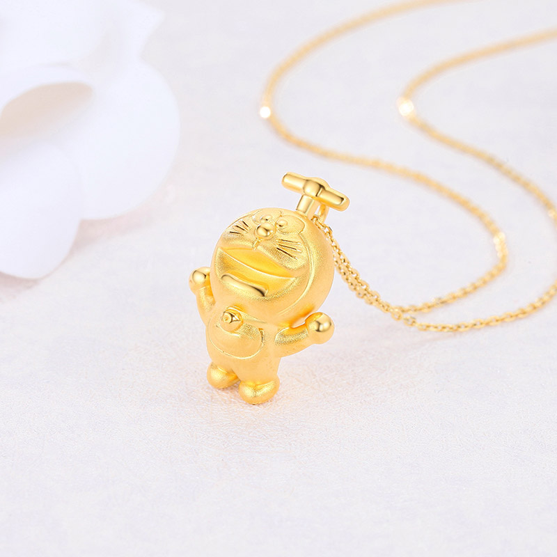 Chao acer jewelry doraemon bamboo pendant gold pendant womens hard chao acer jewelry doraemon bamboo pendant gold pendant womens hard gold gold necklace pendant b mozeypictures Image collections