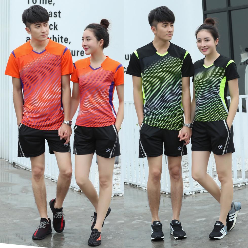 Tùy chỉnh mua đồng phục bóng chuyền nam ngắn tay khô nhanh đồng phục thi đấu đồng phục bóng chuyền đồng phục đào tạo nữ in ấn - Bóng chuyền