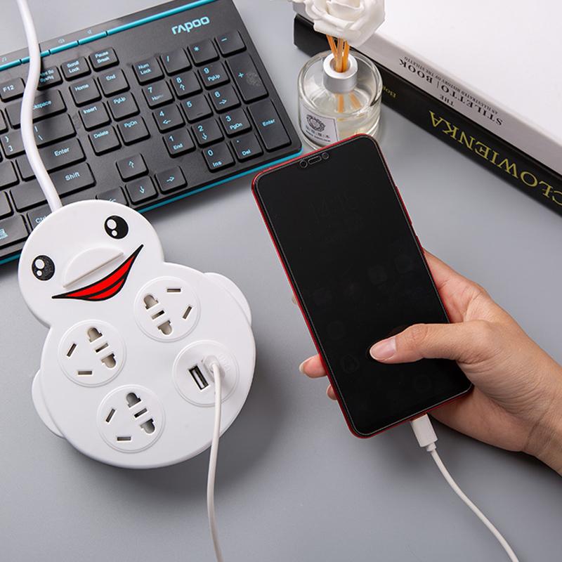 小白鸭多功能USB宿舍插座转换器