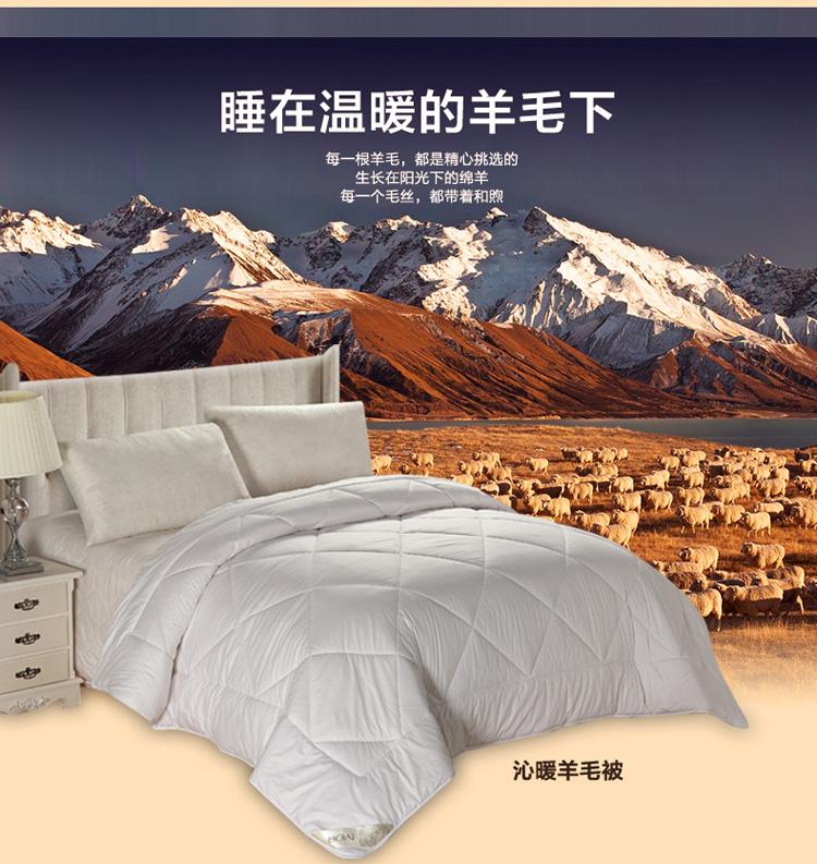罗莱家纺双人被心被子被芯冬被 加厚保暖1.8米床冬季羊毛被