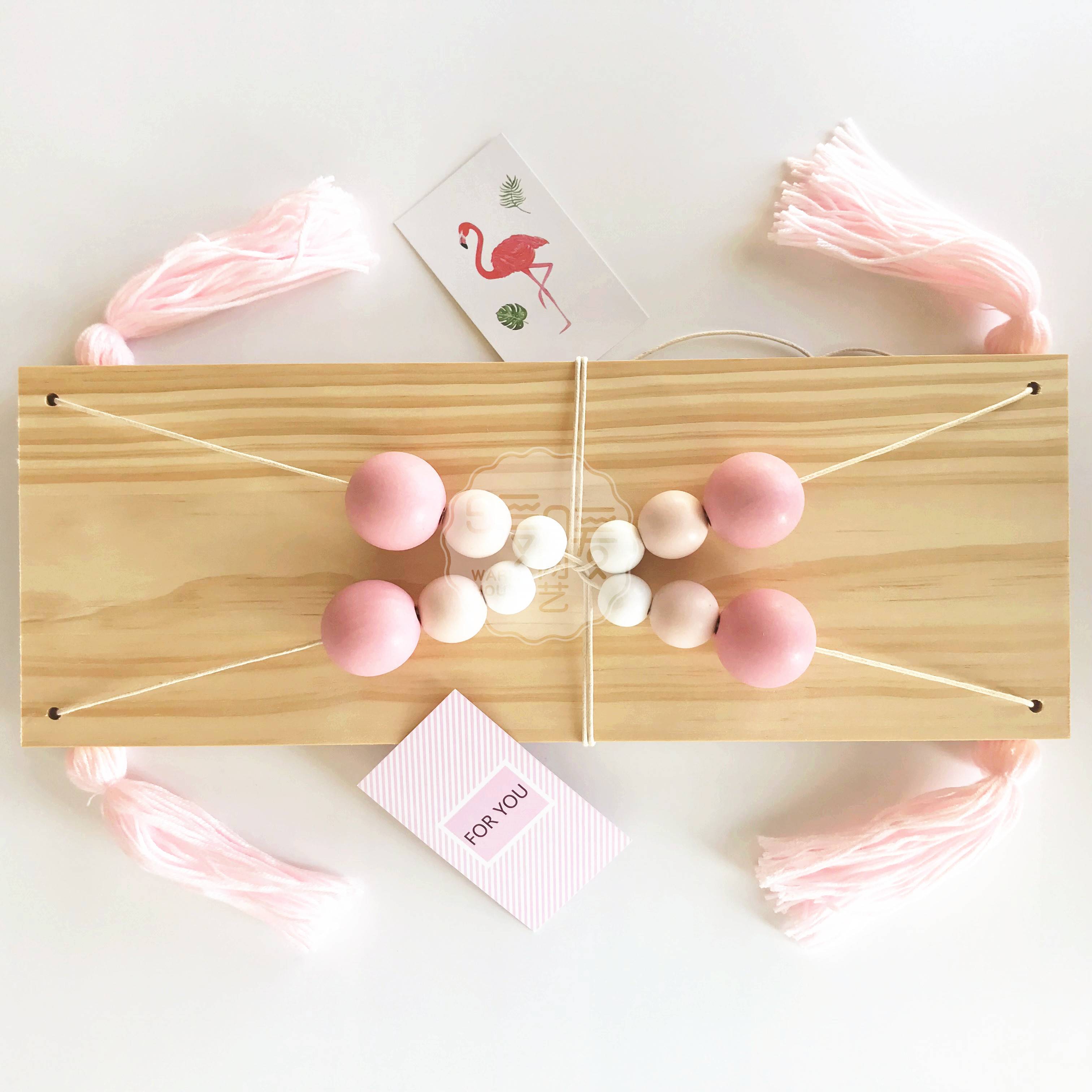 USD 4.43] Girls heart room decoration hanging board wall decoration ...