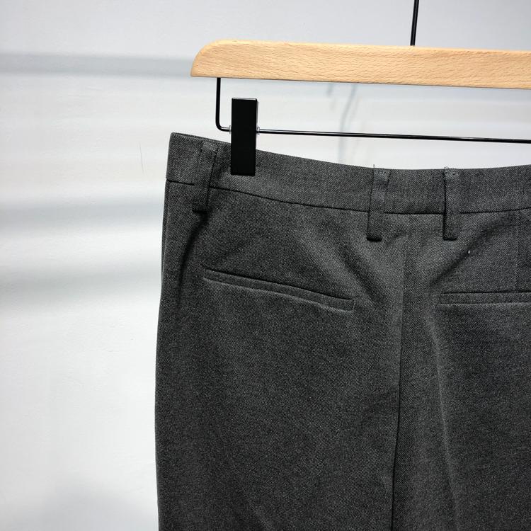 [Quần dài chín điểm dày] mùa thu và mùa đông mới màu đơn giản quần tây đơn giản nam mỏng kinh doanh Hàn Quốc - Quần