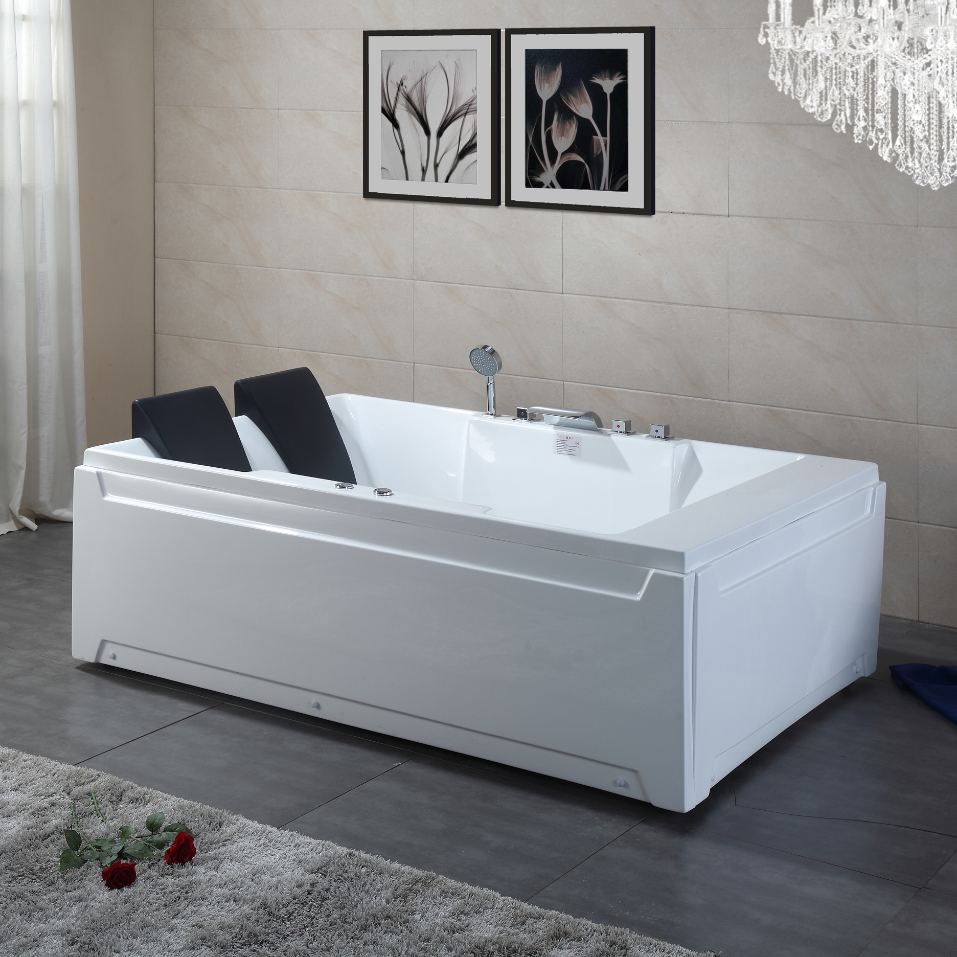 USD 107.50] Acrylic double surfing massage bathtub home mosaic into ...