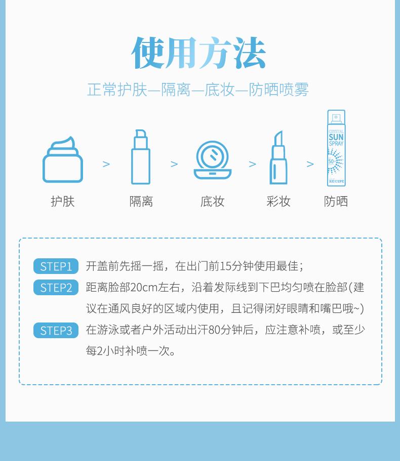 【国内现货】韩国recipe防晒150ml2瓶