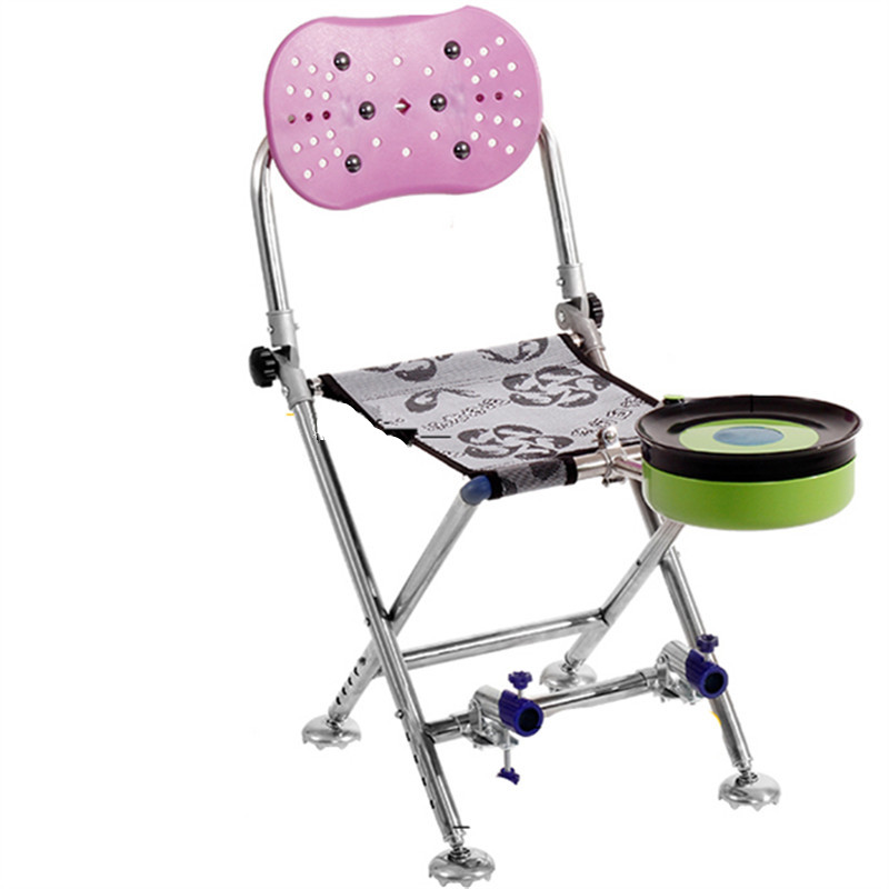 fishing chair folding multifunctional 2018 new stainless steel chair