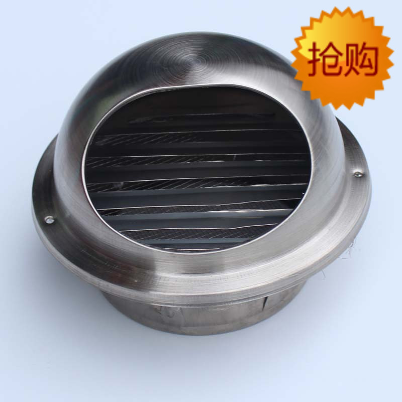 Stainless Steel Exhaust Fan Flue Exterior Wall Anti Rain Pipe Hood