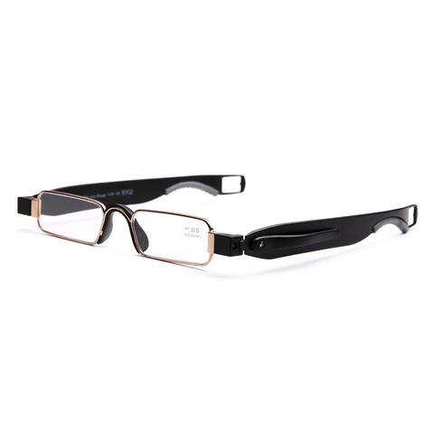 老花镜折叠便携式男女tr90时尚超轻优雅舒适360度旋转老花眼镜
