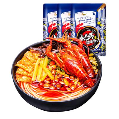 好欢螺螺蛳粉小龙虾味螺丝粉320g*3袋新品螺狮粉柳州特产