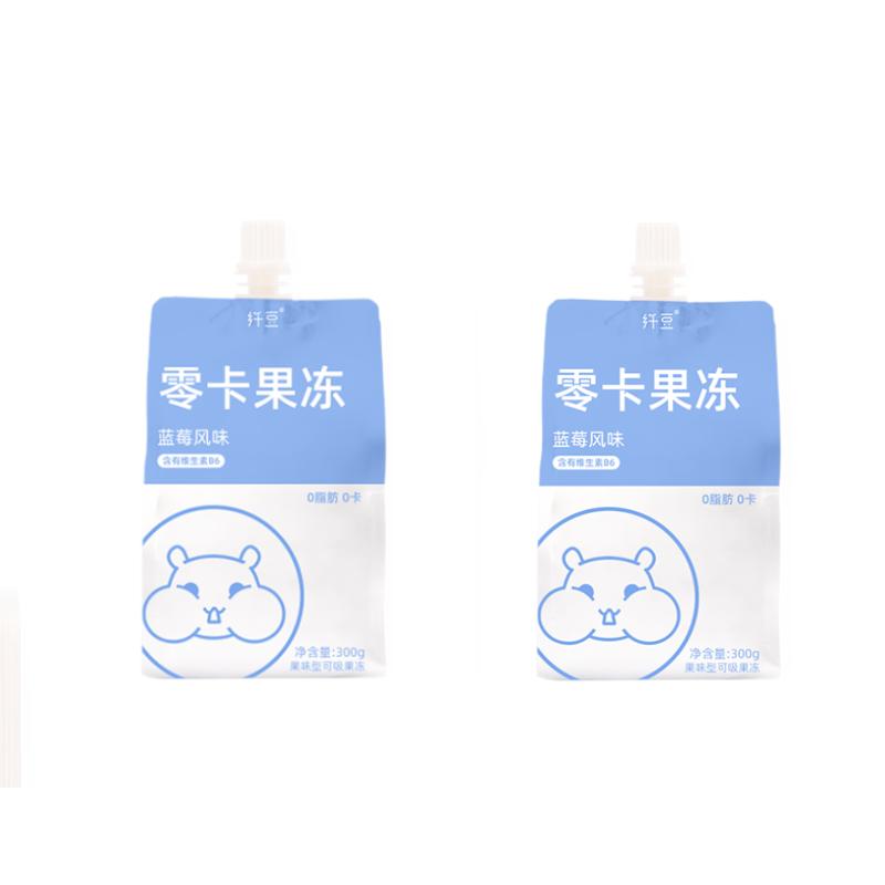 【纤豆】零卡果冻代餐布丁300g*2袋