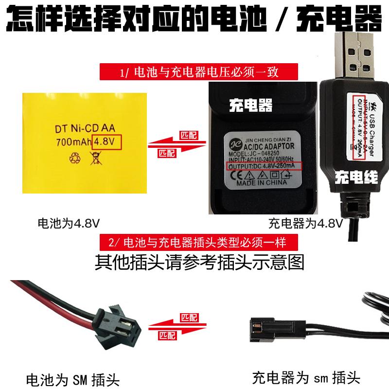Toy remote control boat remote control car battery charger 3.6V4.8V6V7.2V9.6V