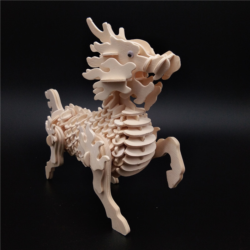 Model Building Toys & Hobbies 3d Wooden Cute Animal Building Blocks Decorative Doll Small Simulation Animal Model Baby Children Learning Toy Animal Statue E