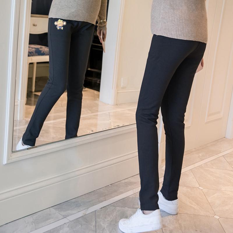 孕妇裤秋冬2020新款潮妈外穿秋季加绒加厚运动装3-9个月休闲裤子