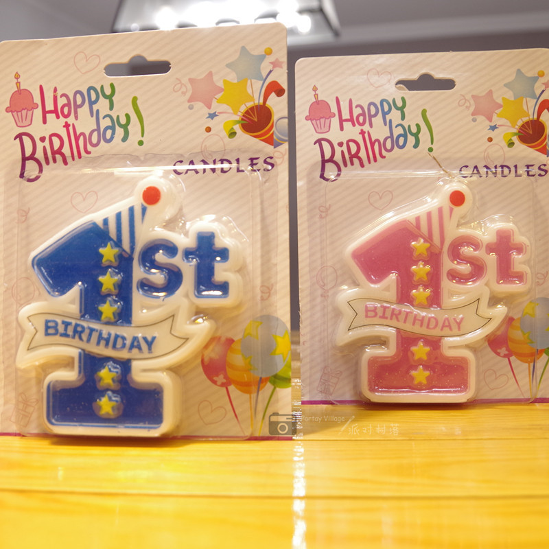 One Year Old Birthday Candle Number 1 Personality Children Single Creative Large Cute Cake Decoration Supplies