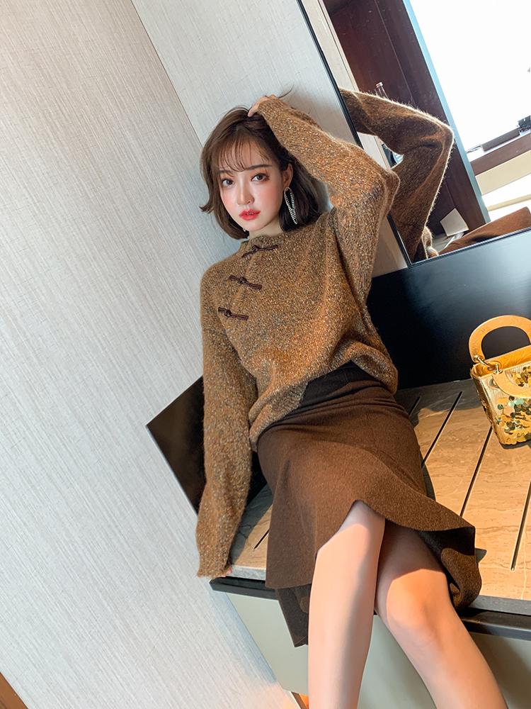 混织雪花针织毛衣,穿上真心美!