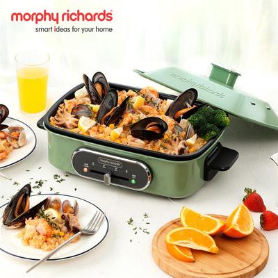 英国摩飞多功能料理锅烧烤炉电烤盘家用小型网红多用一体锅MR9088