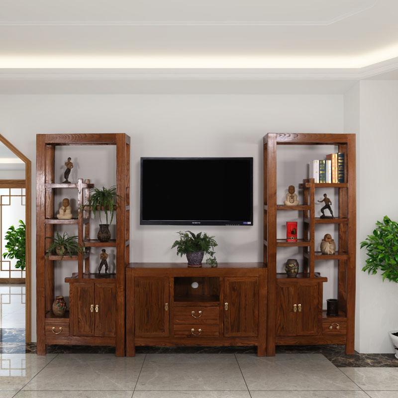 Solid Wood Bo Ancient Frame Tv Cabinet