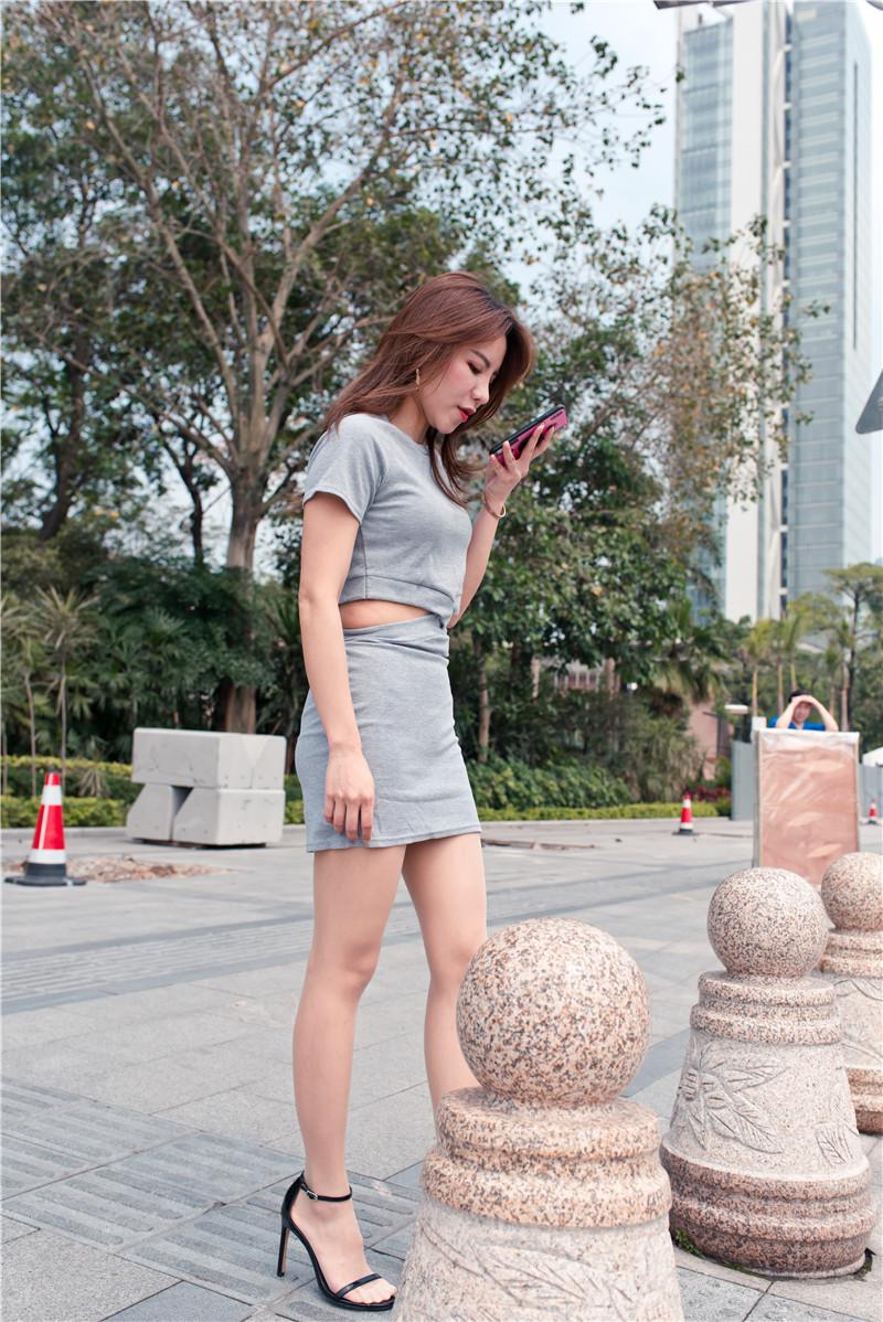 灰色短裙 【套图+视频】 52795279 帖子ID:47