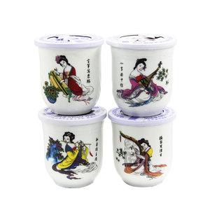 清香型白酒陶瓷口杯酒高度高粱粮酒8杯