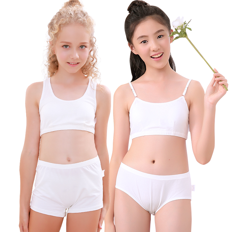 aa536e74f3830 Girls underwear vest development period 9-12 years old 13 girls bra 15 children  cotton