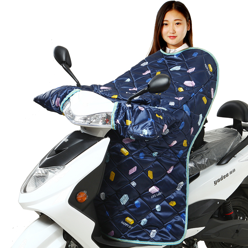 电动车挡风被保暖加大加厚加绒电动车冬季摩托车电瓶车挡风防风罩