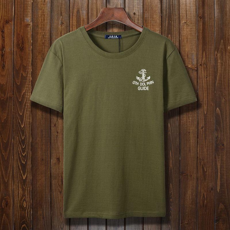 Đặc biệt hàng ngày của nam giới kích thước lớn ngắn tay T-Shirt cotton cộng với phân bón XL vòng cổ lỏng nửa tay áo đáy áo triều áo thun thể thao nam
