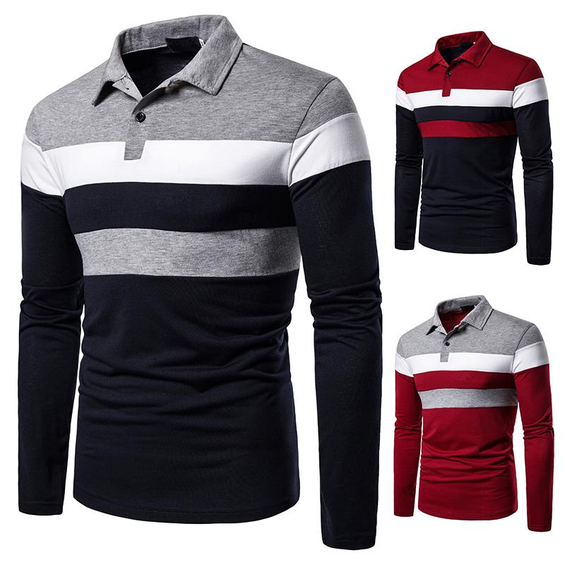 O1CN0120DgXH1cmzoh7wPCA !!282993644 Men's POLO Tri-Color Sweatshirt