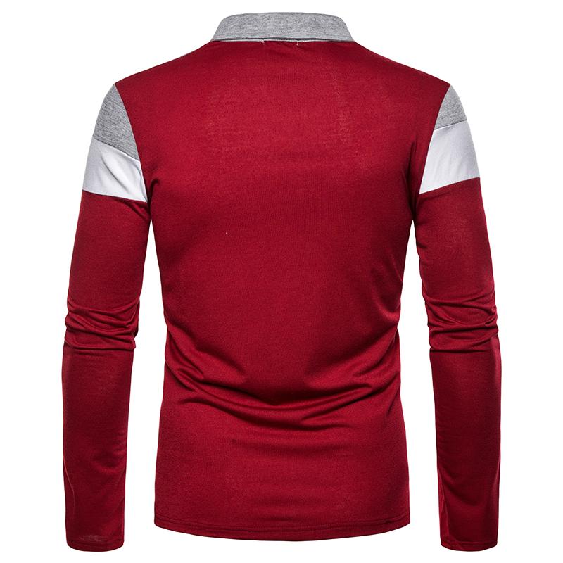O1CN015Rzu7o1cmzofStYF9 !!282993644 Men's POLO Tri-Color Sweatshirt