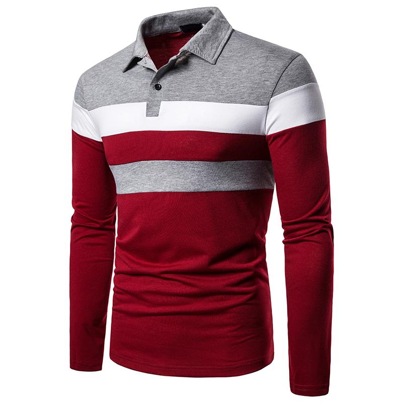 O1CN01NGBDJC1cmzoelnvpF !!282993644 Men's POLO Tri-Color Sweatshirt