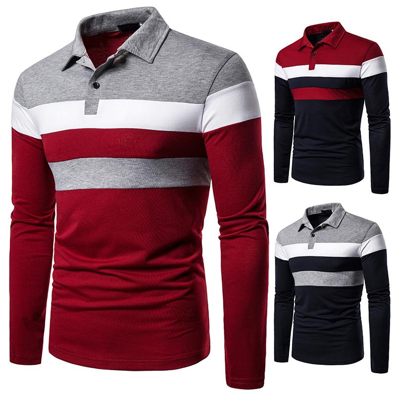 O1CN01vbuhNv1cmzofSsXst !!282993644 Men's POLO Tri-Color Sweatshirt