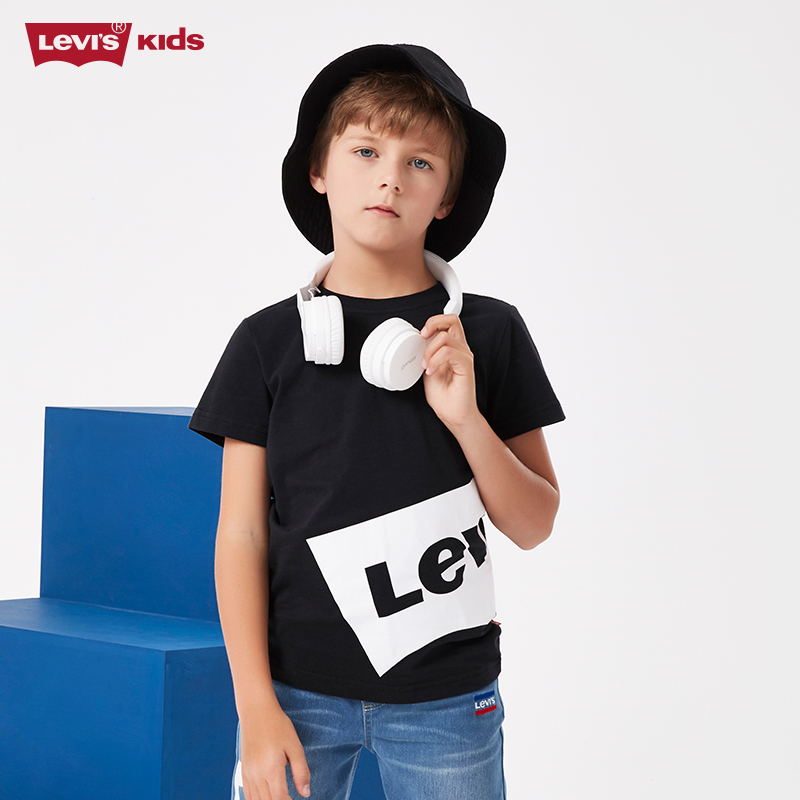Levi's 李维斯 2020夏款儿童纯棉短袖T恤(80~160码) 2款3色