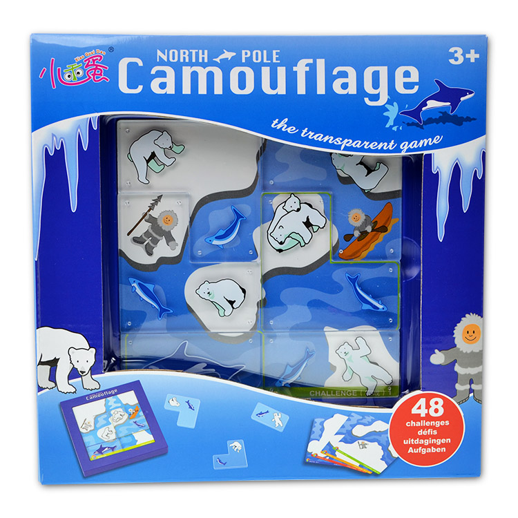 Educational plastic toy north pole camouflage polar bear intellect game gift 1pc