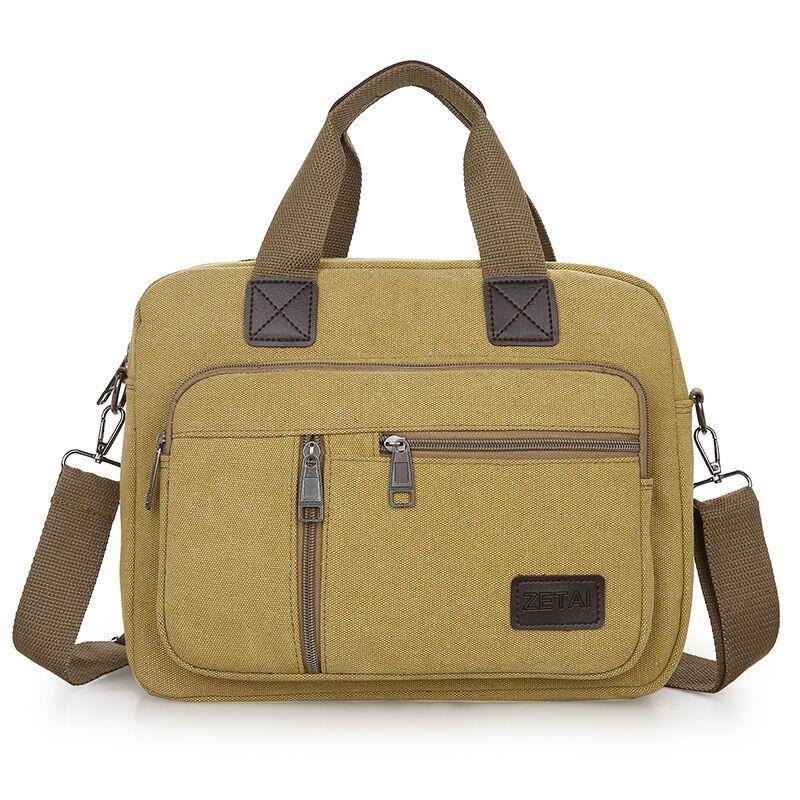 新款帆布包男士大容量单肩斜挎包休闲大包男包背包手提包商务男包
