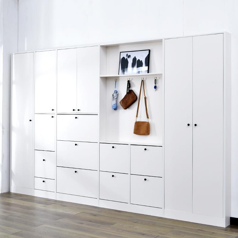 进门17cm门厅北欧鞋柜定制衣帽柜多功能现代简约入户玄关柜超薄柜