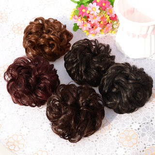 Wig ball head fluffy rubber band curling ring matte curling hair pack hair bud head