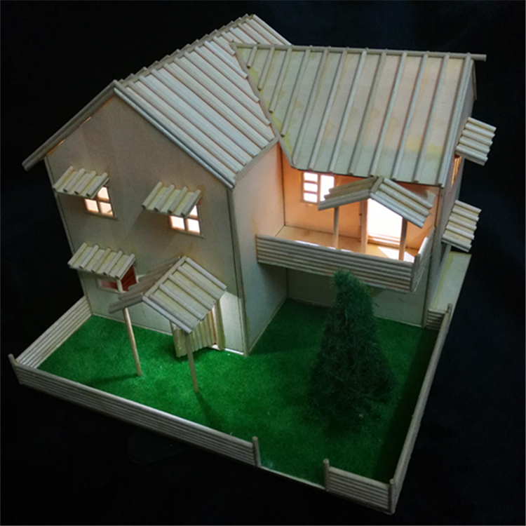 Toothpick Stick Ice Cream Stick Wood Chip Popsicle Sand Table House Board Diy House Handmade Building Model Material