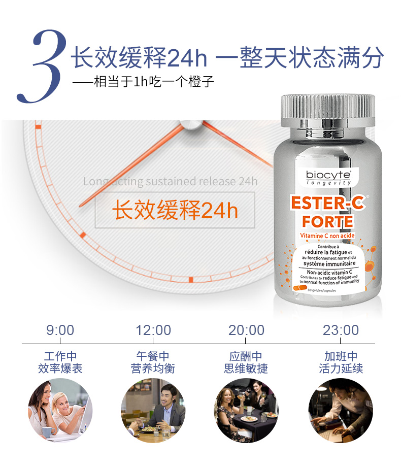 biocyte维生素c胶囊250mg增强免疫力预防感冒法国进口正品 ¥188.00 产品中心 第9张