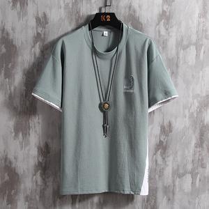 FS86494# X短袖T恤男士潮流iXs春夏季打底衫半袖体恤衫韩版白色上衣 男装批发男装货源