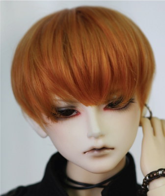 taobao agent Spot CROBI CRWML-114 three-point small head circumference bjd baby with wig ring juice