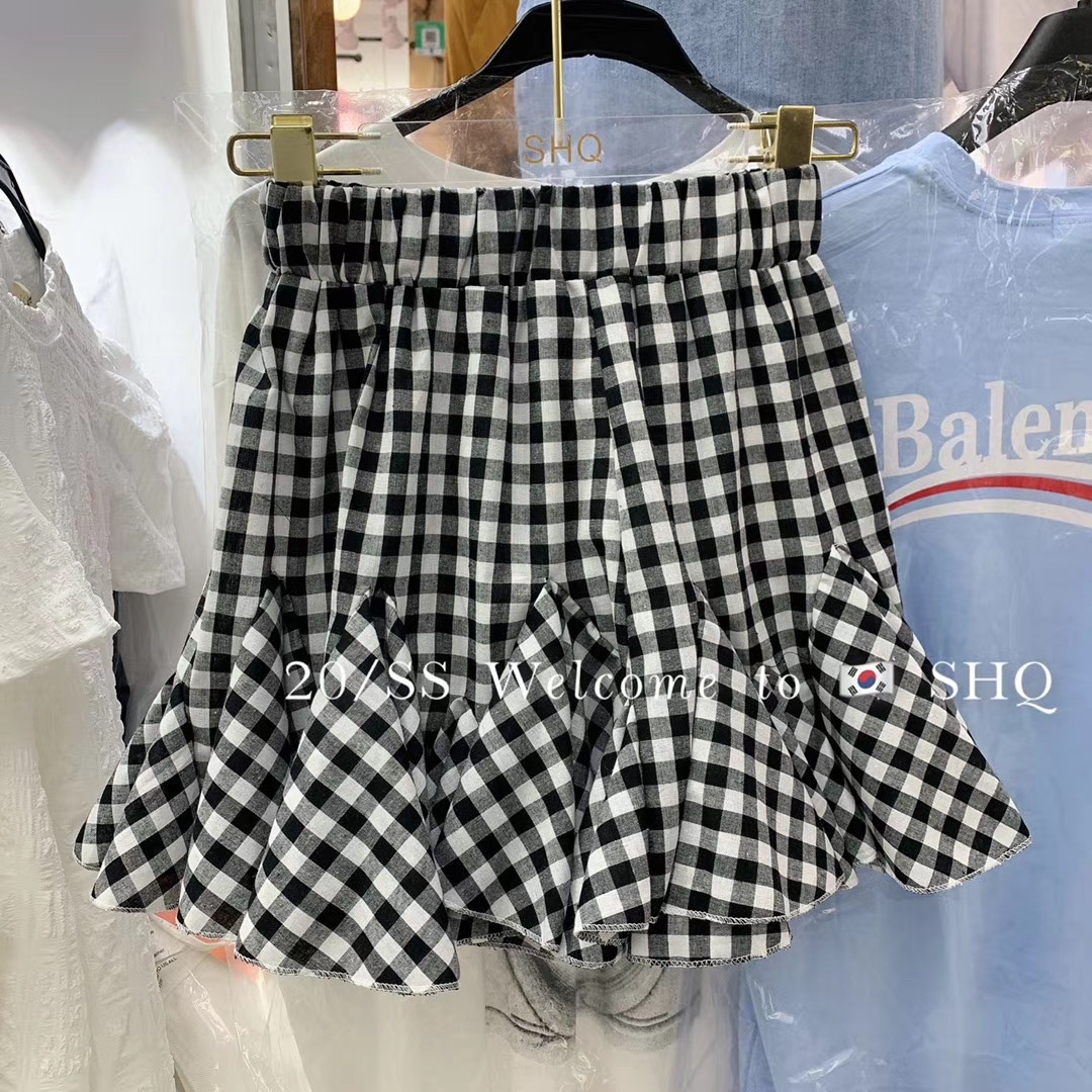 Mùa hè 2020 phiên bản mới của Hàn Quốc cho các cô gái trẻ tuổi eo thon hơn kẻ sọc nhỏ tươi bất thường váy nữ - Váy