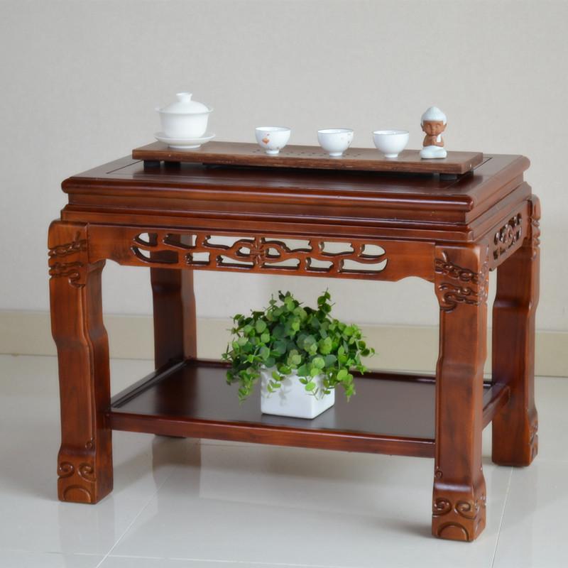 实木茶几中式仿古老盆景鱼缸架花架榆木架奇石桌茶几架花几置物架