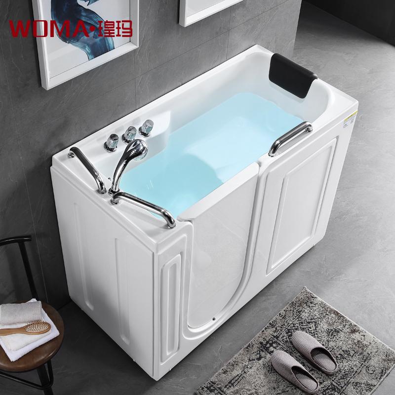 Huang частица для женского имени старики цилиндр нет барьер препятствовать боковой двери шаг в домой глубоко пузырь сидящий акрил массаж ванна небольшой квартира