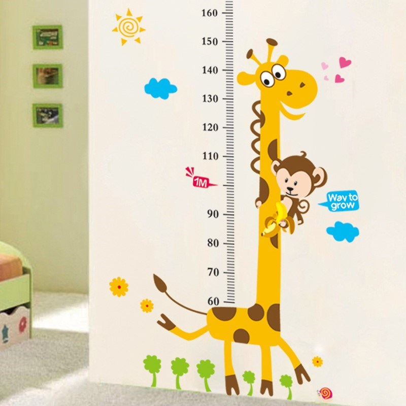 Living room wall children's height sticker sticker wall volume men's room than a head elevated romantic self-sticking amount of children Xuan