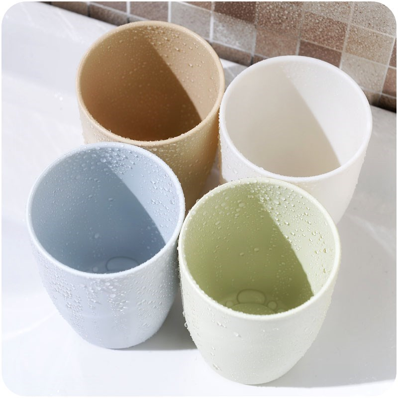 Simple mouthwash cup plastic brush cup creative toothbrush cup wash cup solid color tooth cylinder hotel room home