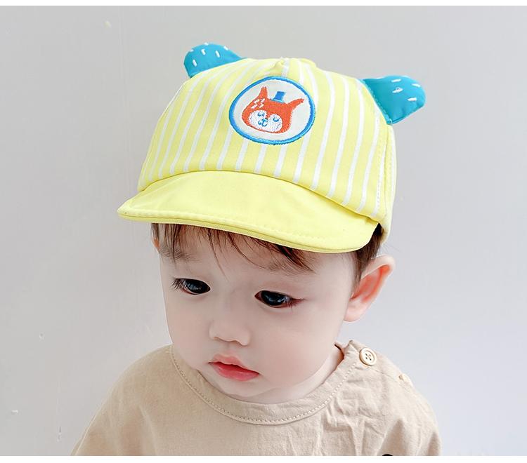 婴儿帽子春夏季薄款儿童遮阳防晒鸭舌帽男女宝宝棒球帽春秋遮阳帽详细照片
