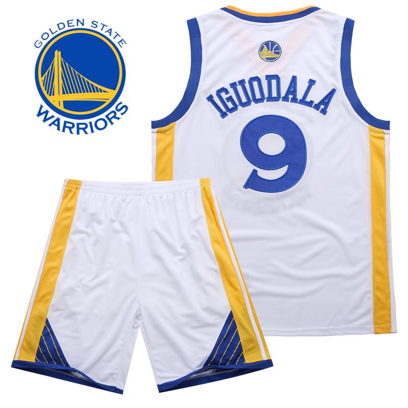 阿拉多-勇士隊 安德烈伊格達拉 Andre Iguodala 9號球衣 刺繡籃球服 套裝 訓練服