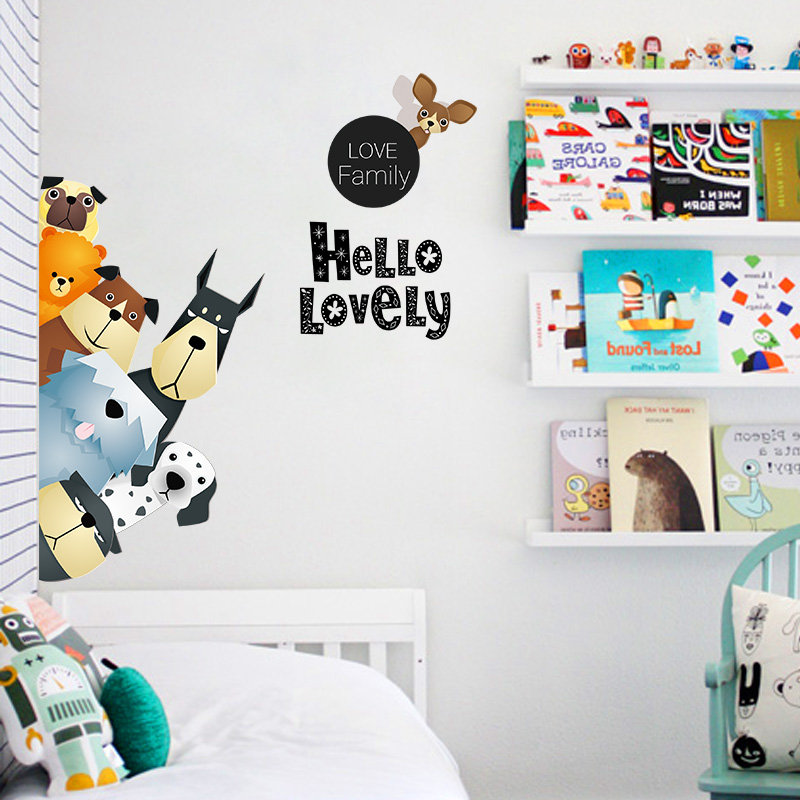 Childrenu0027s Room Cartoon Wall Stickers Kindergarten Door Stickers Bedroom  Cabinet Door Door Stickers Nordic Ins Stickers Wall Decoration