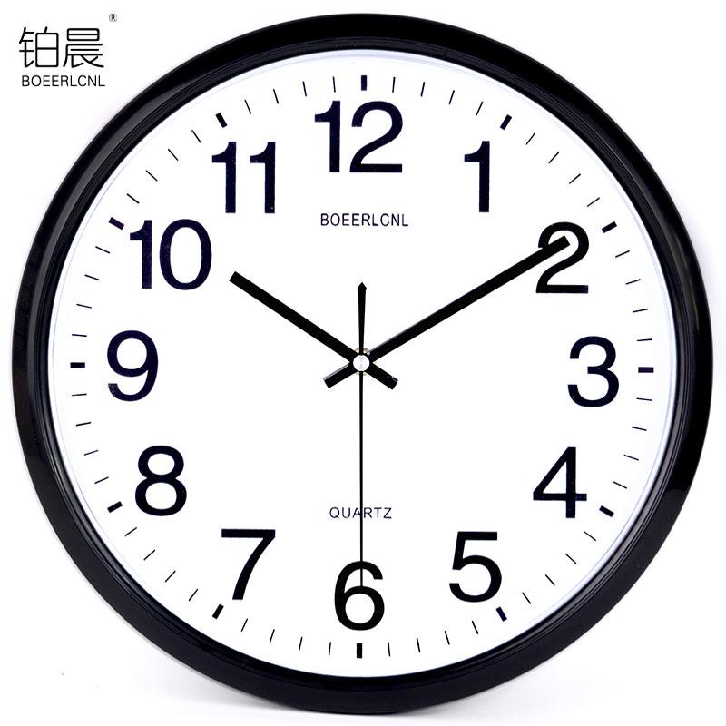 静音挂钟 客厅个性钟现代简约钟