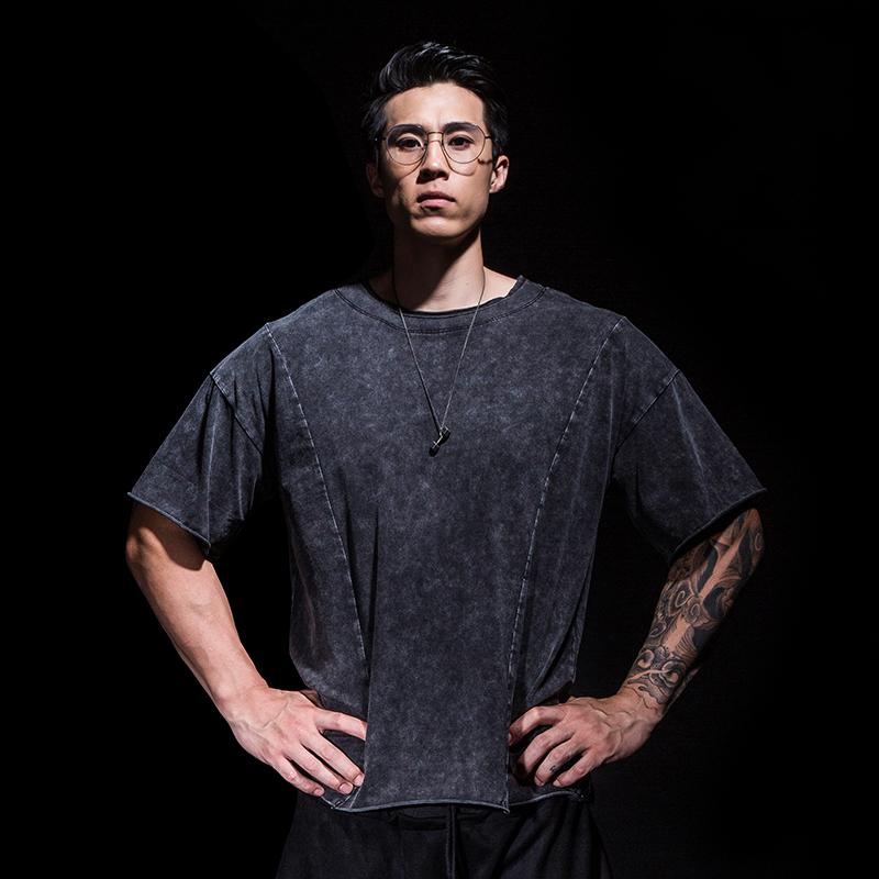 Myloricae áo thun rộng thể thao nam retro mùa hè thoáng khí đào tạo nửa tay giản dị thủy triều thương hiệu thể dục ngắn tay - Áo phông thể thao