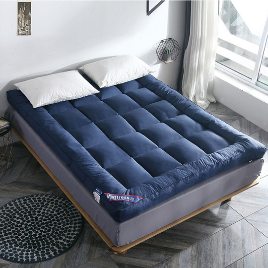 Feather velvet mattress cushion double 1.8M warm bed 加 加 thick tatami pad was dedicated to single rental rental