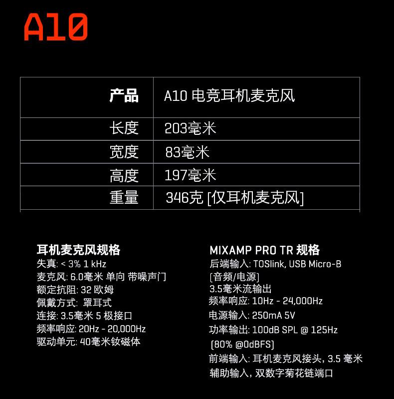 ASTROA10电竞耳机麦克风